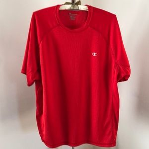 Champion double dry men's red XL athletic shirt